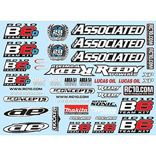 Team Associated Decal Sheet: B6, ASC91742