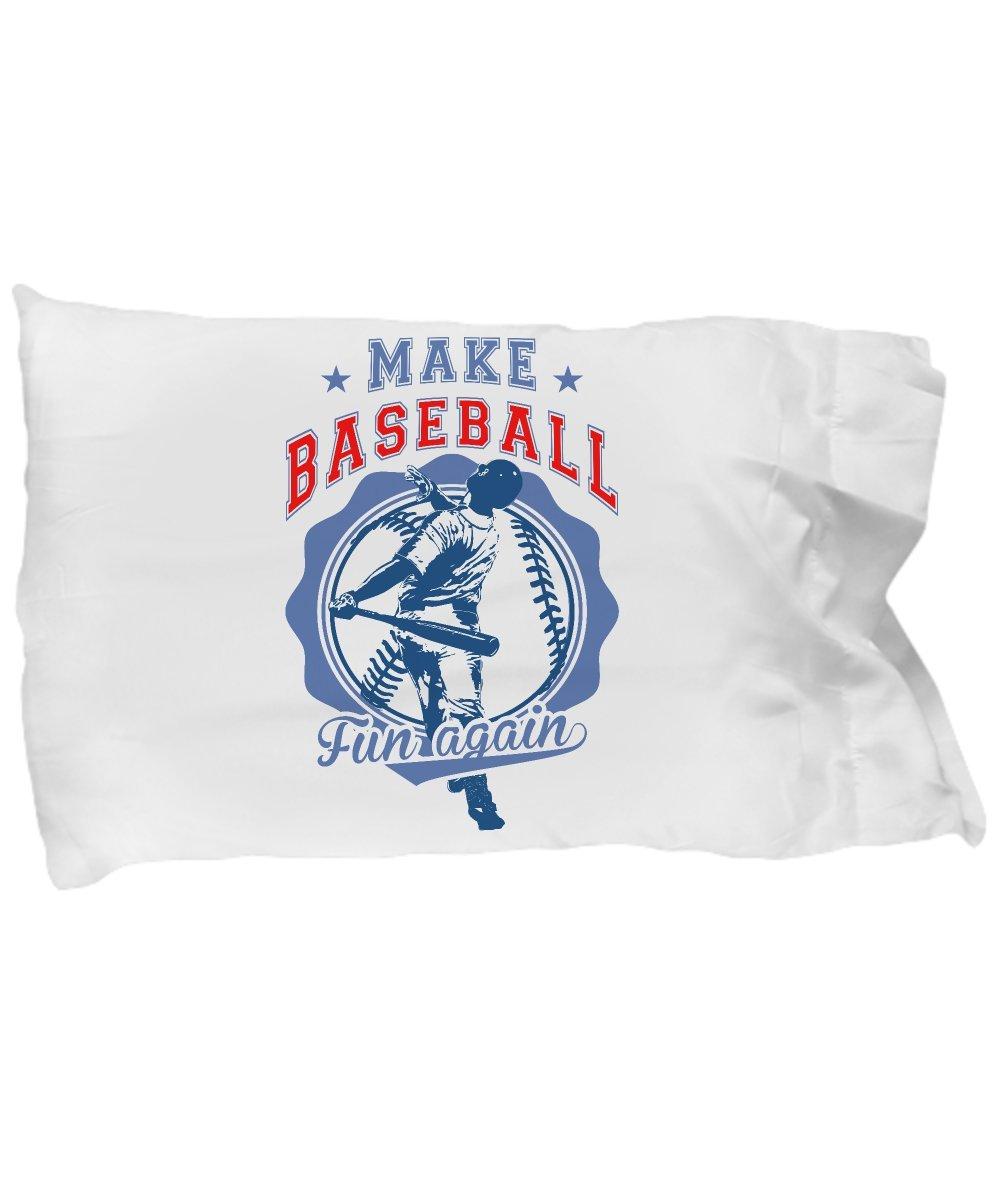 e2d10059321f Amazon.com  Funny Novelty Gift For Baseball Player Make Baseball Fun Again Best  Baseball