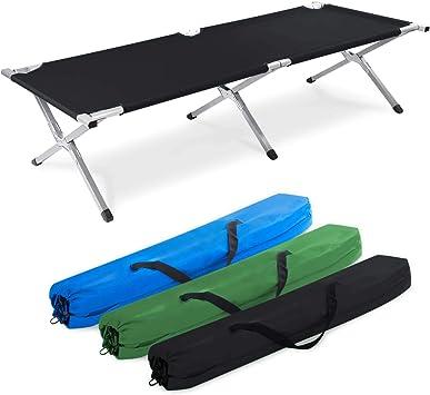 Cama de camping de aluminio, plegable – cama de acampada y para invitados