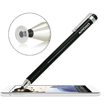 Kmoso® precisión punta fina lápiz capacitivo extremadamente fina puntas con transparente Disc lápiz capacitivo lápiz