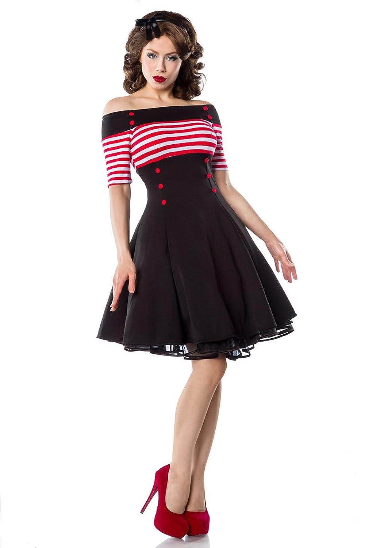 Vintage Kleid, schwarz/rot/weiß von BELSIRA