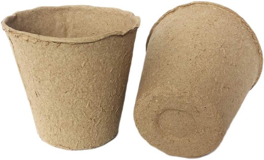 TOPBATHY 50pcs Peat Pots for Seedlings Seed Starter Nursery Pots Organic Biodegradable Plant Starter Trays for Garden Plantable Pots for Starting Seed