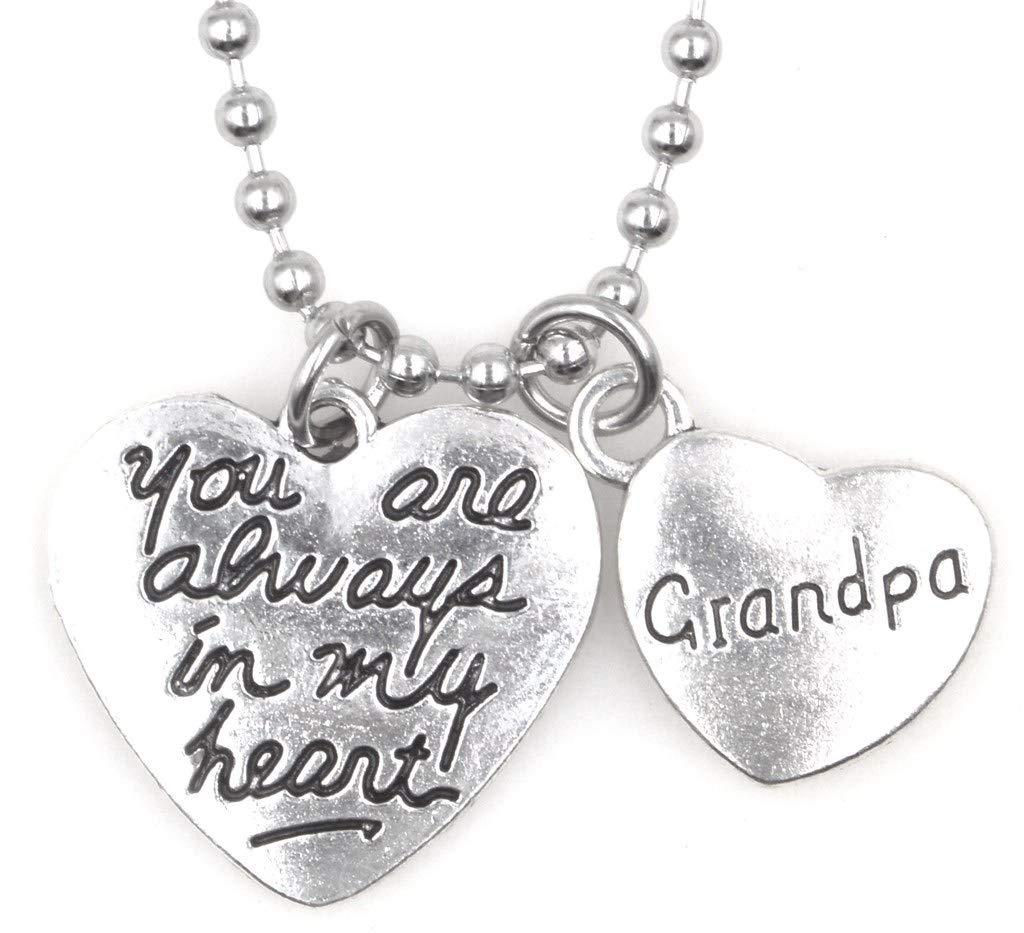 """21.6"""" 2.4mm Stainless Steel Ball Chain Necklace You are Always in My Heart Dad 33P It's All About You Jewelry IAAYA- FBA-GN1BK76-SSBALLCN21.6"""