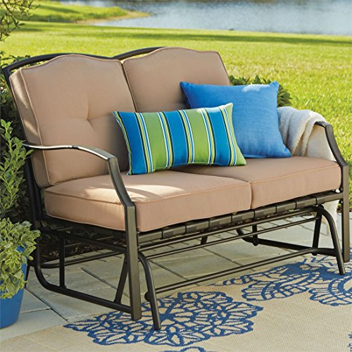 Brylanehome Loveseat Glider (Taupe,0) by BrylaneHome