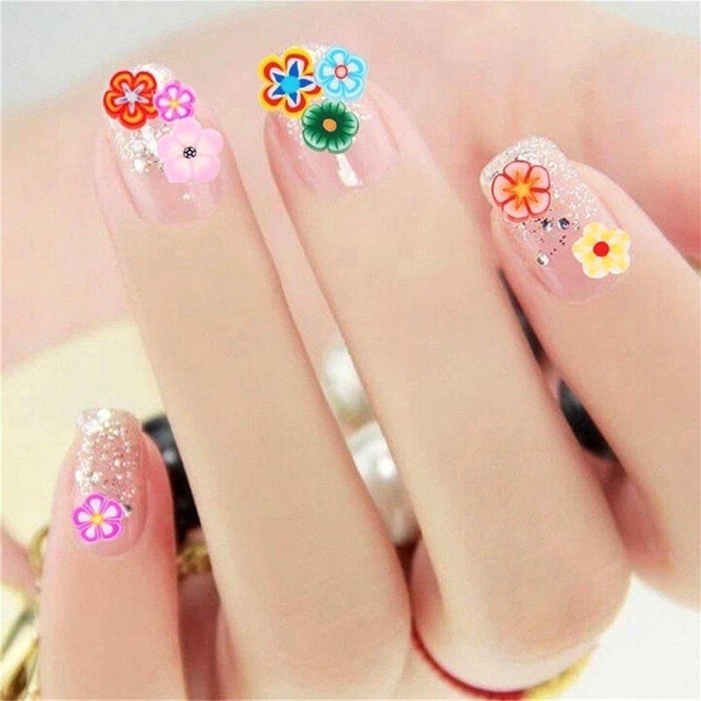 1000 unidades de pinzas para decoración de uñas, varios diseños de frutas 3D Fimo, diseño de rodajas de uñas, perfecto para pegar a la perfección, ...