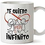 MUGFFINS Taza San Valentín (Te quiero) - te quiero infinito - Regalos Originales y Divertidos de Aniversario para Novios…