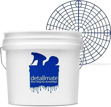 Detailmate Set Für Die Professionelle Auto Handwäsche New Detailmate Wash Bucket Wasch Eimer 3 5 Gallonen Ca 12 5 Liter Made By Gritguard Grit Guard Eimer Einsatz Blau Küche Haushalt