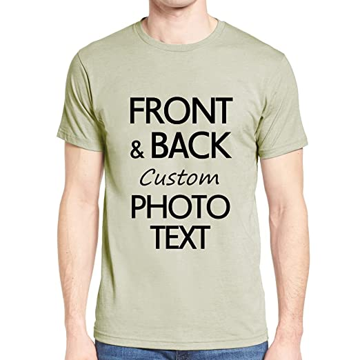 92f4a3921dbff Custom Personalized T-Shirt Design Your Own Print Text or Image (Front &  Back)
