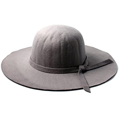 Accessoryo Women s Grey Floppy Fedora Hat with Knotted Band Detail ... ae5951164799