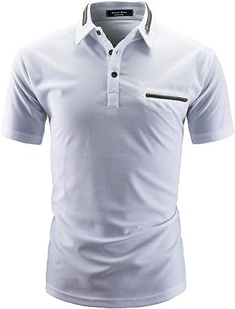 NISHISHOUZI Polo Hombres Camiseta Manga Corta Polo de Verano ...