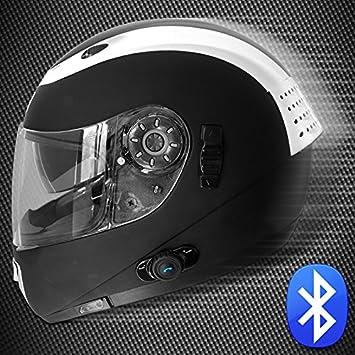Burnout VENTO - Casco integral con auricular y micrófono Bluetooth para motocicletas, scooters (incluye