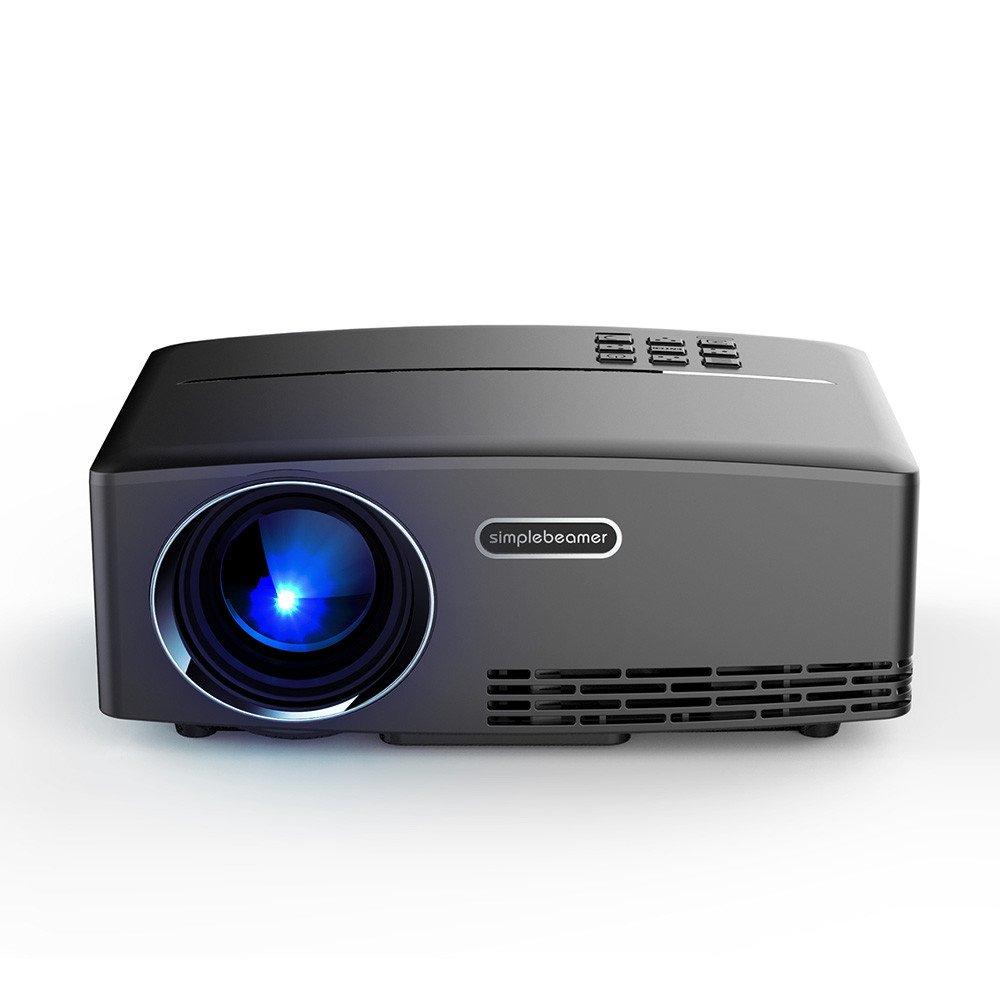 新しいLCD 1800Lumen 800x480ホームシアターポータブルプロジェクターポータブルミニLEDプロジェクターVGAのHDMIと800x480 LED液晶ビーマープロクター [並行輸入品] B07212D639