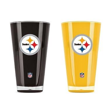 NFL Pittsburgh Steelers 20oz Insulated Acrylic Tumbler Set of 2