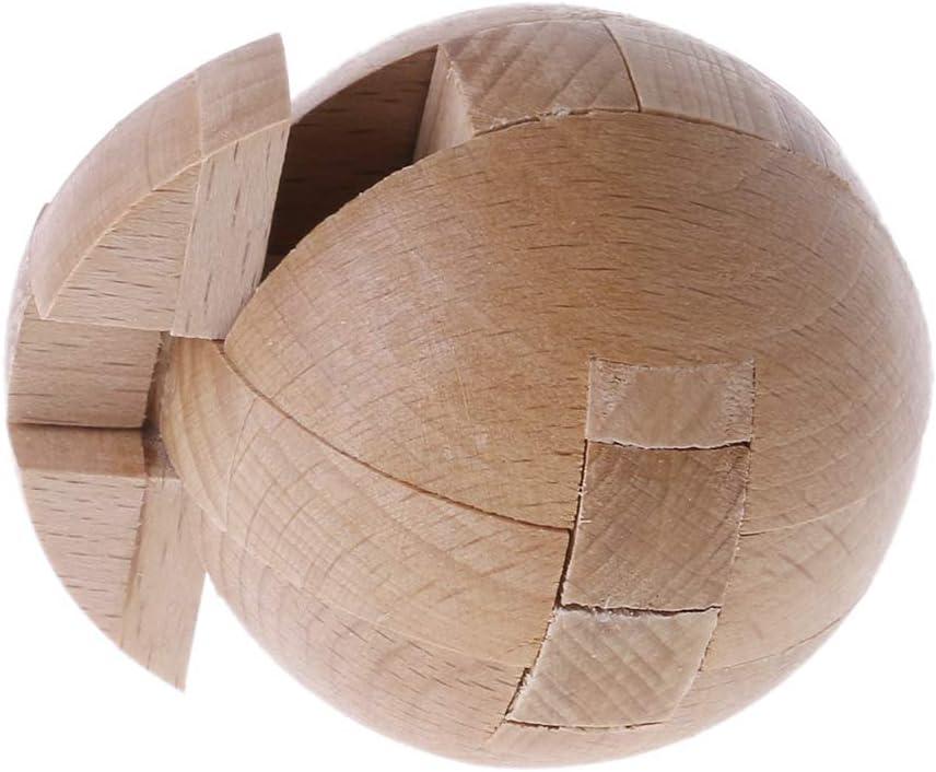 Casse-t/ête Jouet intelligent pour enfants et adultes Lisanl Puzzle en bois Boule magique