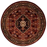 Cheap Nourison Paramount (PAR21) Red Round Area Rug, 5-Feet 3-Inches by 5-Feet 3-Inches (5'3″ x 5'3″)