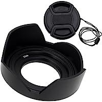 Fotodiox Reversible Lens Hood Kit for Sony E PZ 16-50mm F3.5-5.6 OSS E-Mount Power Zoom Lens, Reversible Tulip Flower…