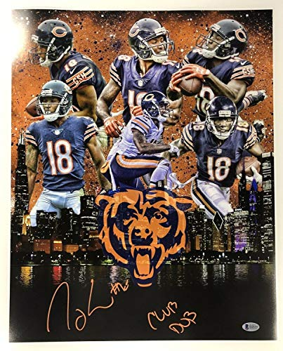 (Taylor Gabriel Autographed Signed Chicago Bears 16x20 Photo with Beckett Coa - Certified Signature)