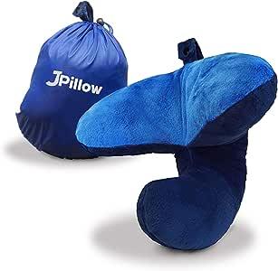 J-Pillow - Almohada de viaje, color azul marino