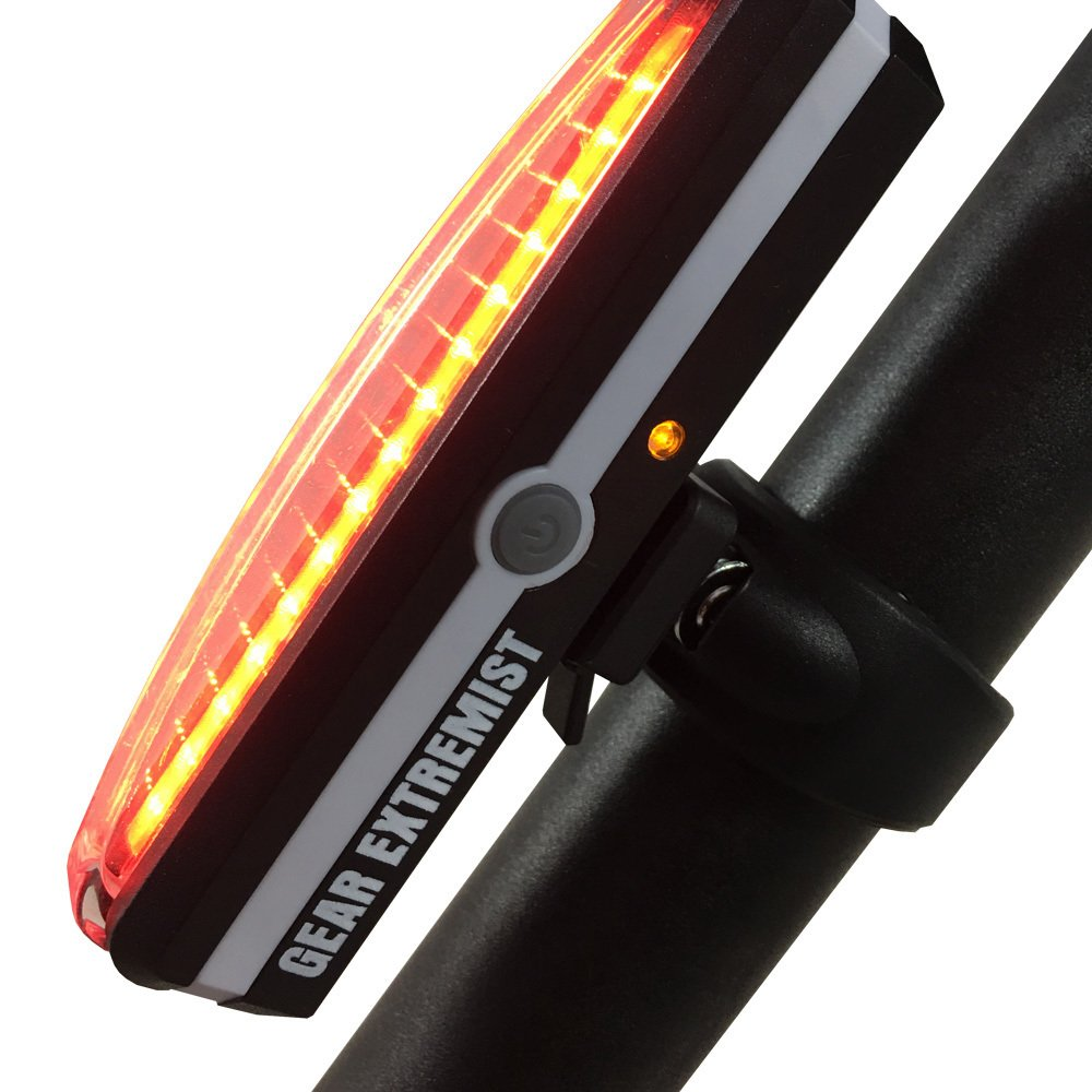 Ultra Bright Rechargeable Rear Bike Light – High Intensity Dual Function LED Front or Tail Light Promotes Road Safety All Day Night – Waterproof Bicycle Accessory for Outdoors – Easy to Mount