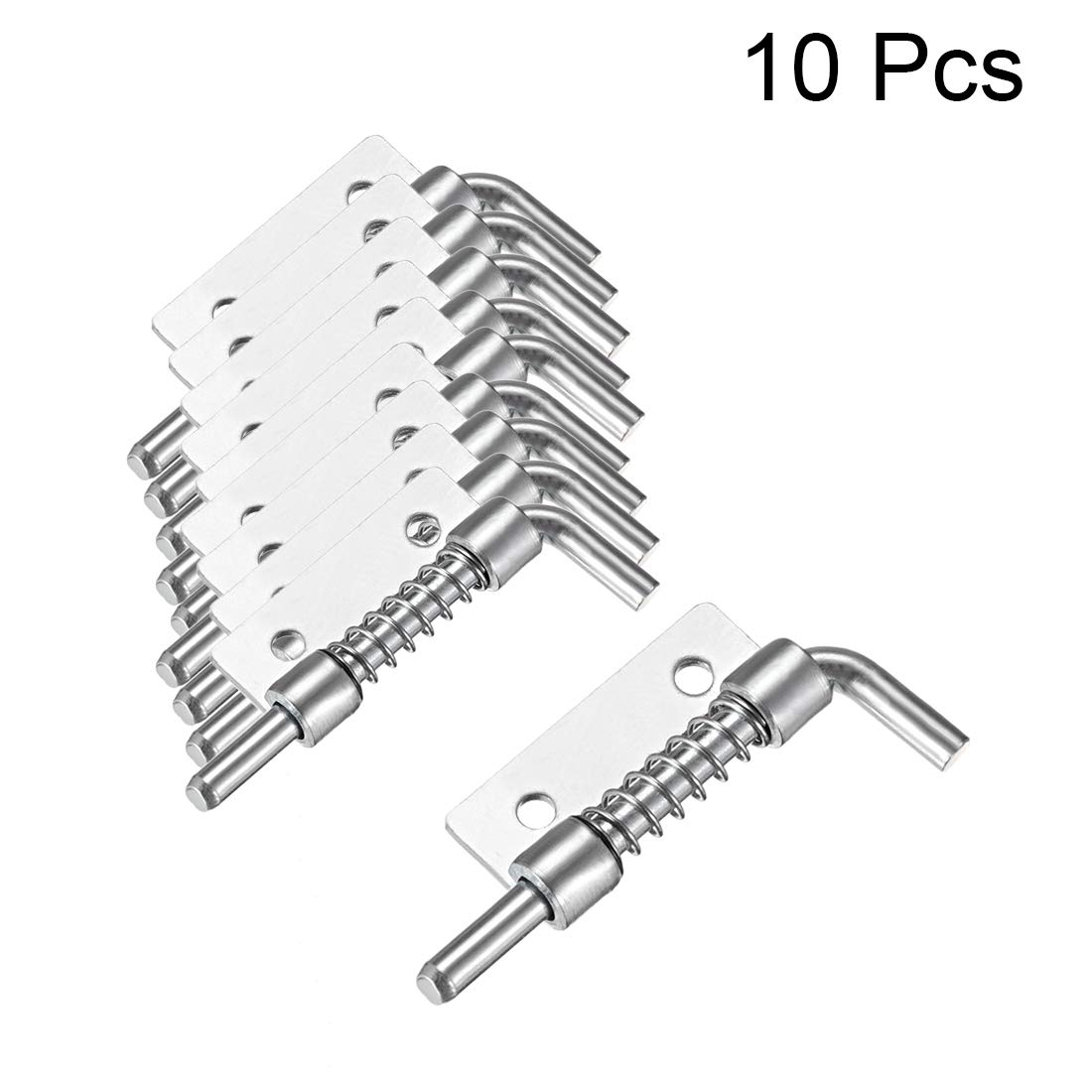Right sourcing map 5 Pcs Carbon Steel Lock Bolt Spring Loaded Pin Latch 56mm Long
