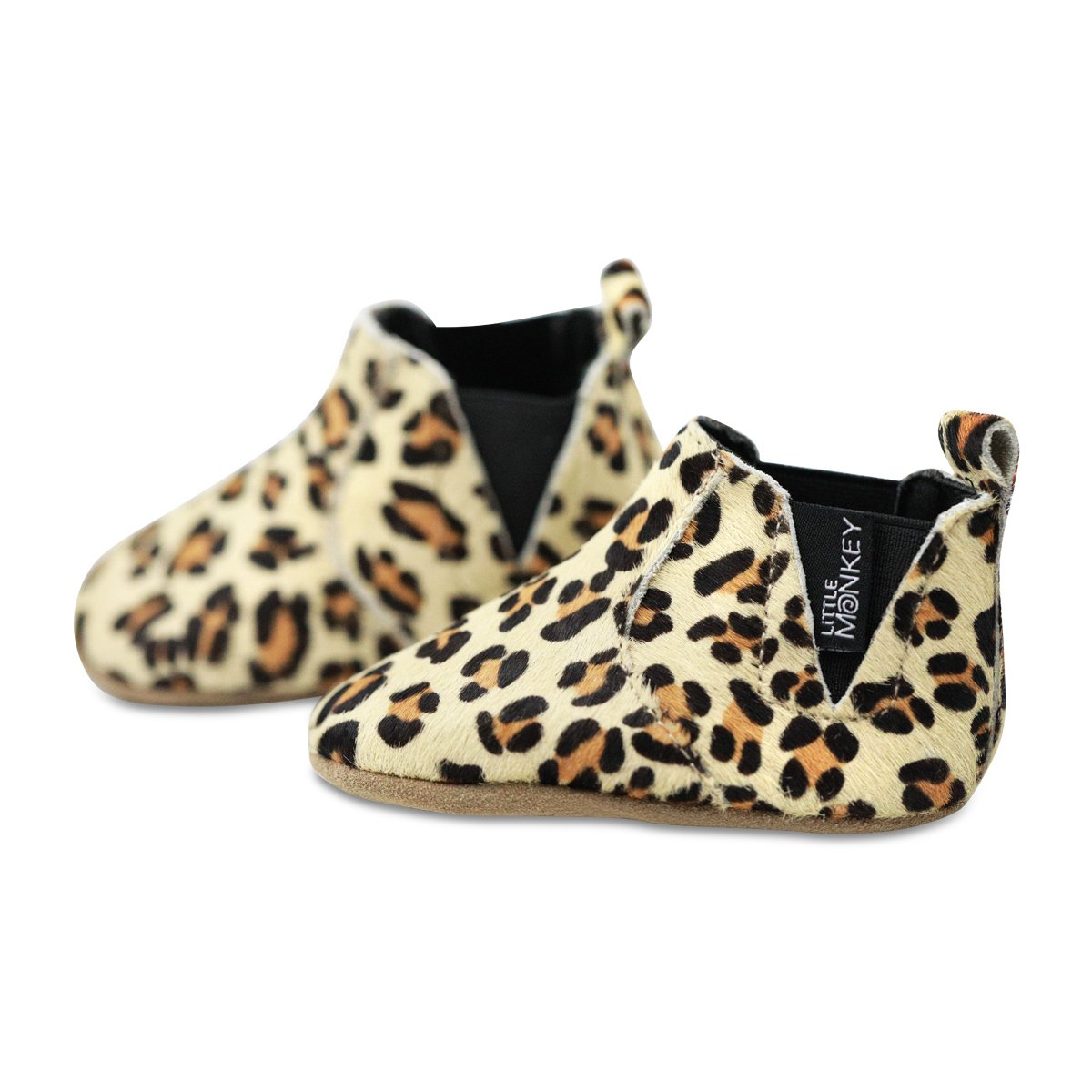 18-24 Months Little Monkey {Wild Thing} Leather /& Fabric Lined Moccasin Boots Infant Baby Newborn Boy Girls Shoes Baby Moccs