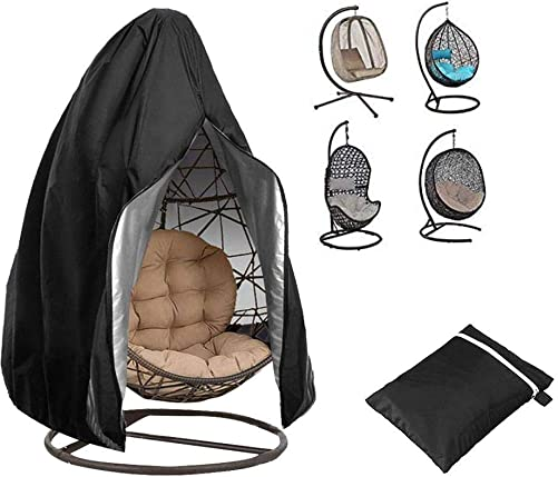 Waterproof Hanging Egg Swing Chair Cover,Heavy Duty Water Resistant Outdoor Patio Chair Cover with Zipper,Lawn Chair Cover Protector,Egg Swing Chair Dustproof Cover,Fits 75×45
