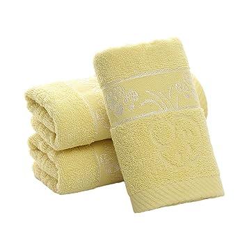 Algodón Plain toalla de mano toallas de seta de Jacquard y más grueso, 3 piezas): Amazon.es: Hogar