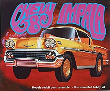 Amt 946 1958 Chevy Impala 1 25 Scale Plastic Model Kit