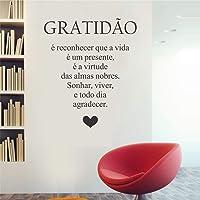 Adesivo De Parede Decorativo Frase Gratidão 50x70cm