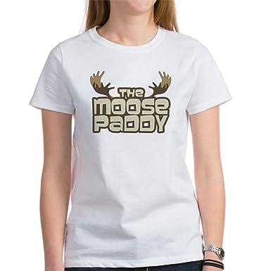 b2d34025 CafePress Moose Paddy Women's T-Shirt Womens Cotton T-Shirt, Crew Neck,