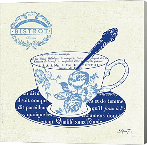 Blue Cups I by Stefania Ferri Canvas Art Wall Picture, Gallery Wrap, 24 x 24 inches