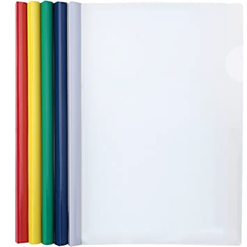 Shxstore Plastic Clear Sliding Bar File Folder Report Covers, Resume  Portfolio Folder, 5 Counting
