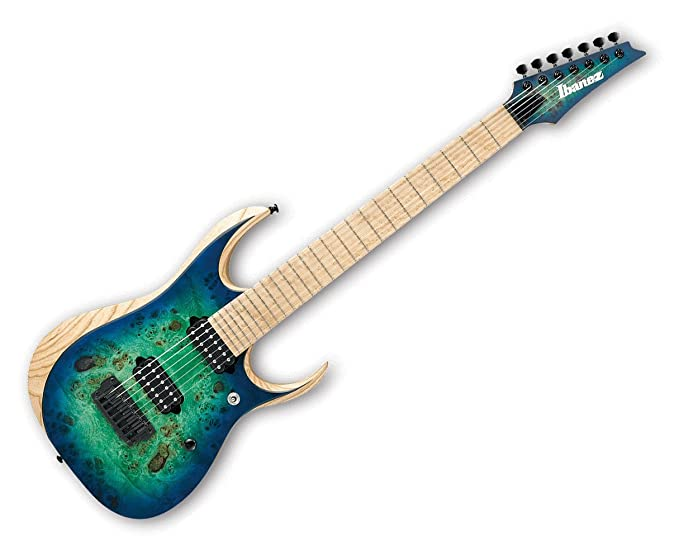 Ibanez rgdix7mpb hierro etiqueta 7 cuerdas Guitarra eléctrica surrealista azul Burst: Amazon.es: Instrumentos musicales