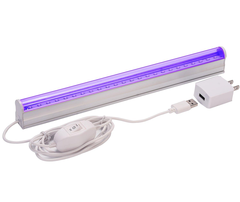 UV LED Black Light Fixtures,Aplstar 6W Portable Blacklight Lamp for Stain Clean,Neon Paint Art,UV Body,Glow Party,UV Poster