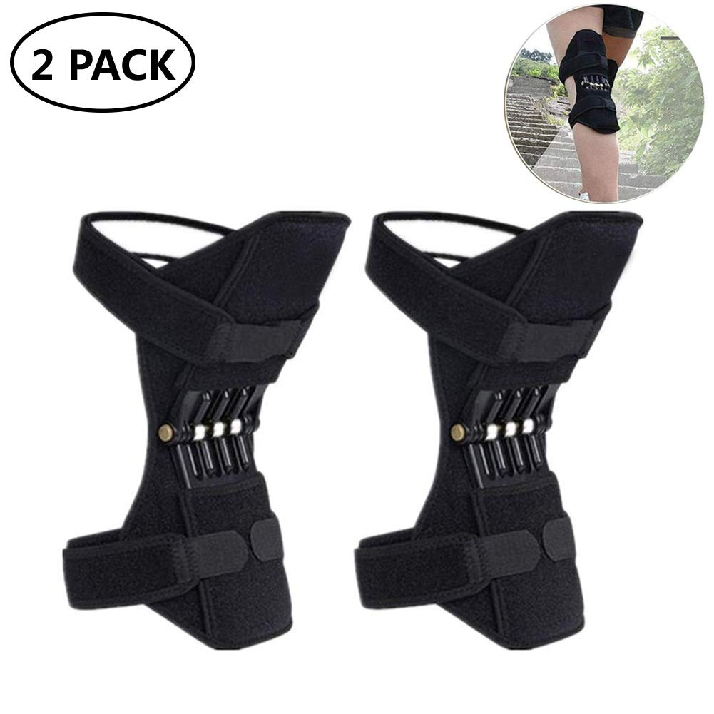 Spring Knee Pad Brace Power Lifts Knee Protection Boost Old Cold Leg Knee Band Mountaineering deep Care Joint Support Knee Pads Powerful Rebounds Spring Force