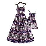 Summer Mother-daughter Dress Bohemia Printed Beach Dress Set