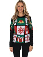Women's Tacky Christmas Sweater - Panel Sweater by Tipsy Elves