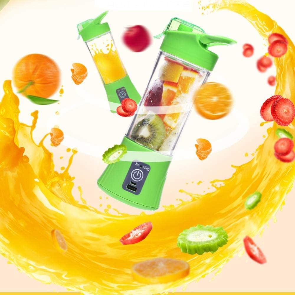 [2020New Version]Rechargeable Blender Mixer Portable Juicer Juice Machine Smoothie Maker Household Small Juice Extractor Manual Juice- Fruit Mixer Blender with Portable Sport Bottles for Ice, Shakes, Smoothies & Vegetable USB