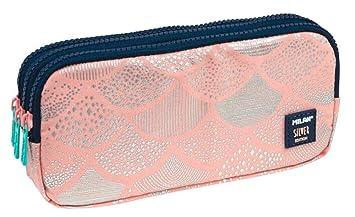 Portatodo Triple Milan Silver Pink: Amazon.es: Oficina y ...