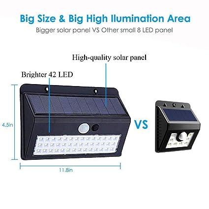 Ozoy Weather Resistant 30 LED Motion Sensor Solar Light Solar Outdoor Lights Waterproof with Motion Sensor
