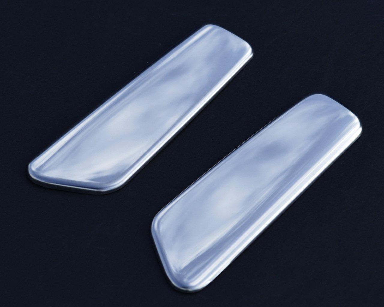 2012 + 2 piezas cromadas para manillar de puerta trasera para Clio IV