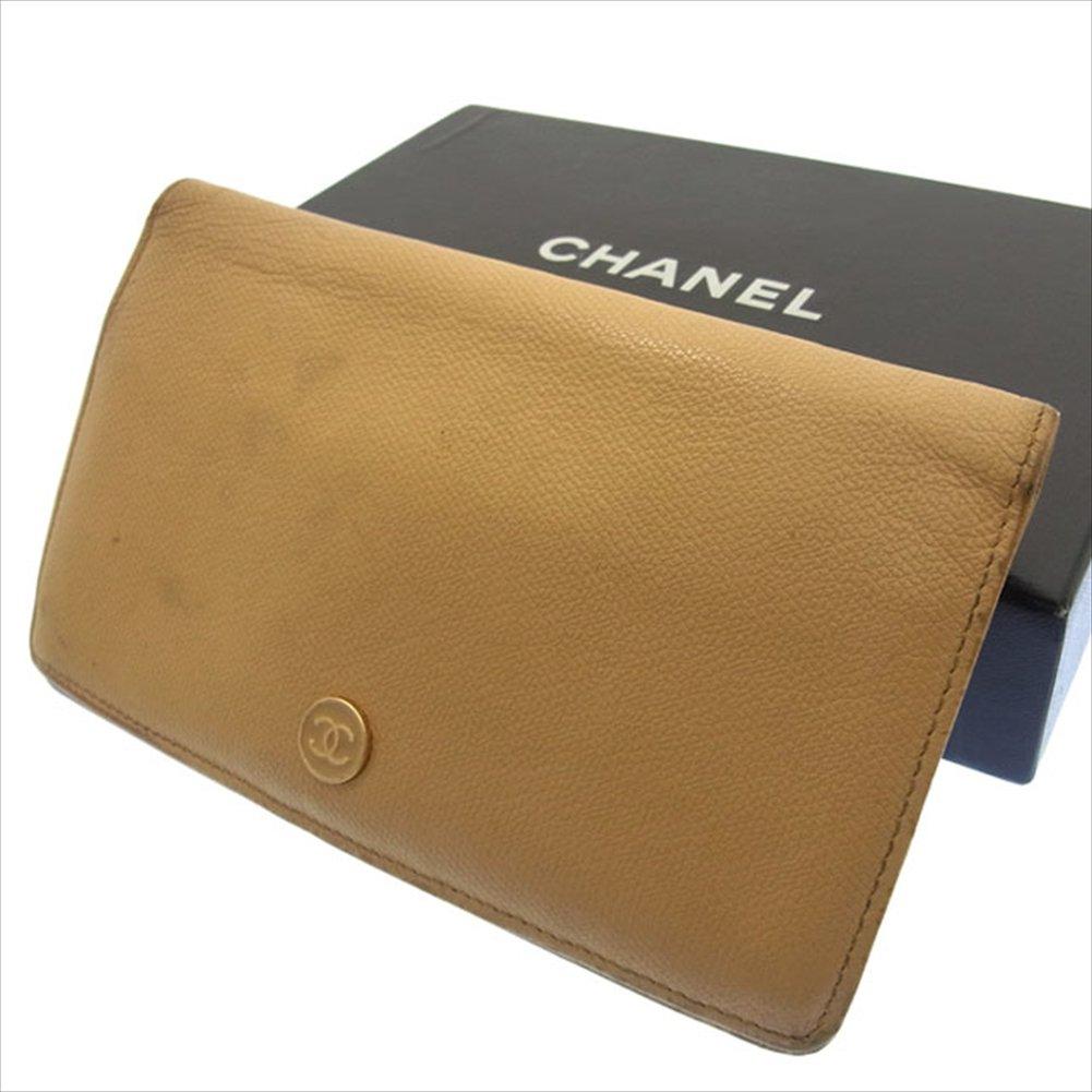 シャネル CHANEL 二つ折り財布 長財布 ユニセックス ココボタン 中古 F416   B0183HJZRA
