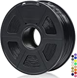 ANYCUBIC 3D Printer 1.75mm Filament PLA, 3D Printing PLA Filament 1KG Spool for 3D Printers & 3D Pens (Black)