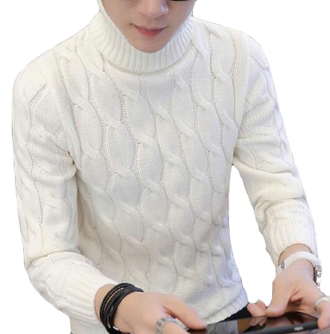 Ptyhk RG NEN Winter Knitted Sweater Turtleneck Sweater High Collar Pullovers