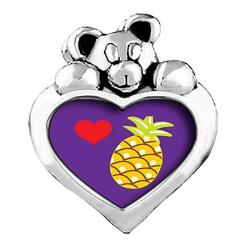 Amazon.com GiftJewelryShop red Flower Heart Cute Pineapple