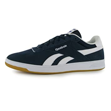 Reebok Slam Suede Trainers Mens Navy/White/Gum Casual Sneakers Shoes  Footwear (UK8