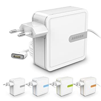 "Aursen Adaptador de Corriente MagSafe 2 DE 45W (Gris) para Apple MacBook Air DE 11"" y 13"" Modelos: A1436/A1466/A1465/A1435/MD223/MD224/MD231/MD232/MD7..."
