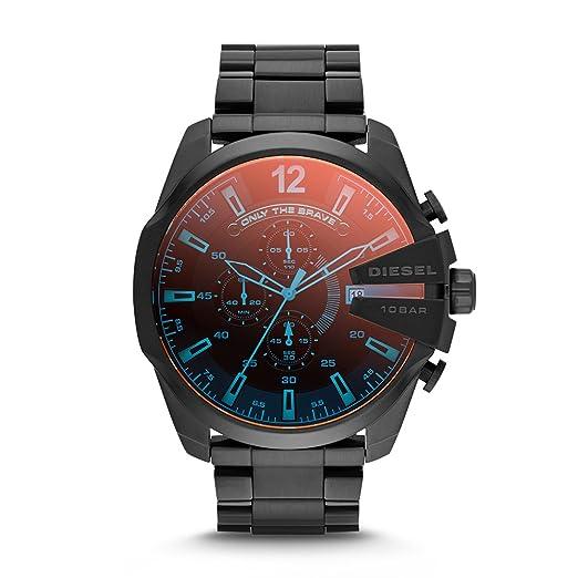 2e51795ce6a Amazon.com  Diesel Men s Mega Chief Quartz Stainless Steel Chronograph  Watch