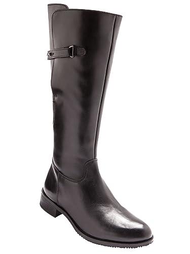 Balsamik Bottes en cuir style cavalières Noir oe6VPX