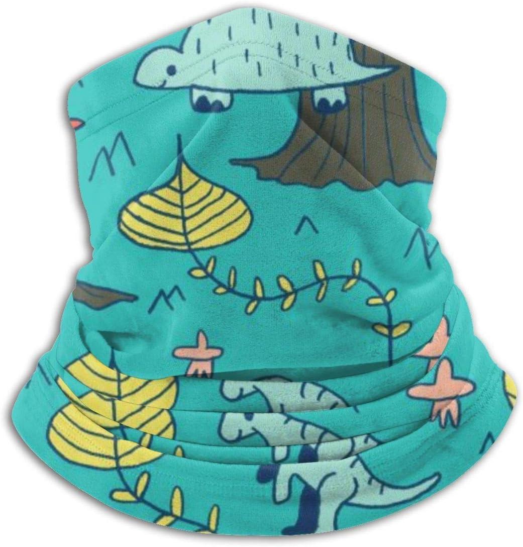 Faithe Keppel Dinosaurios y volcanes Polaina de Cuello de Abrigo de vellón, protección Solar Transpirable Cubierta de la Cara Bufanda Tubo de Pulido a Prueba de Polvo para niños Adultos